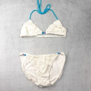 Vintage Jantzen Cream Textured 2 Piece Bikini 14